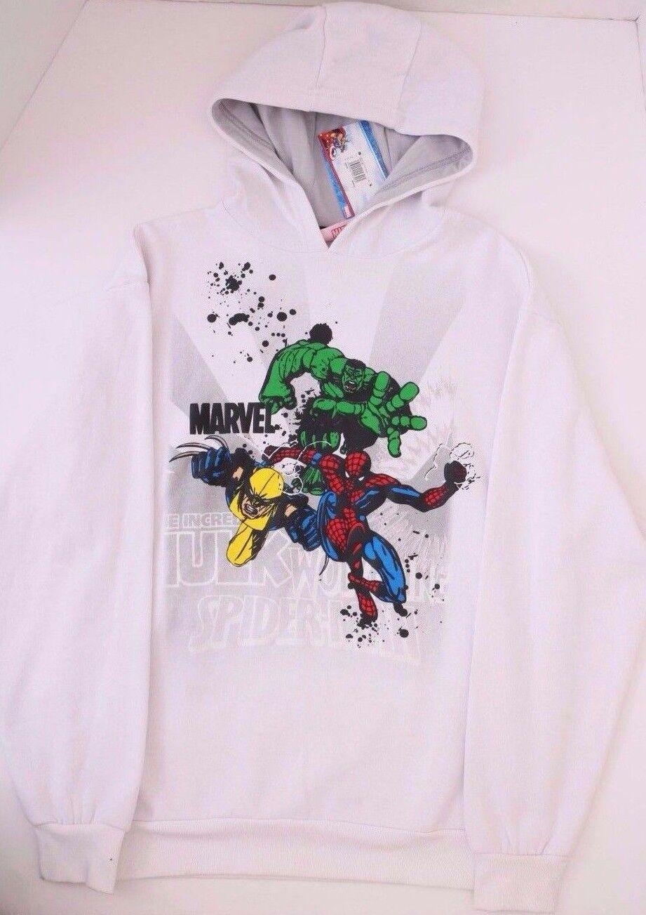Marvel Heroes  Herren Hoodie Weiß NWT Größes Medium Large