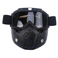 Windproof Motorcycle Motocross Helmet Anti-uv Goggles Shield Face Removable Mask