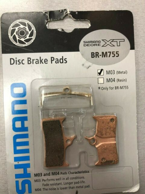 SHIMANO M04 XT BR-M755 RESIN COMPOUND DISC BICYCLE BRAKE PADS