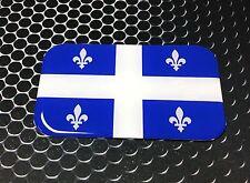 "Quebec Flag Fleurdelisé Domed Decal Proud Flag Emblem Car Sticker 3D 3.1""x 2"""