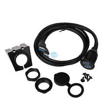 Car Boat Dash 2 Ports USB 3.0 Male to USB 3.0 Female Flush Mount Extender Cable