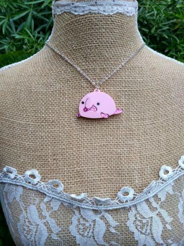 Blobfish Laser Cut Acrylic Necklace fish necklace sealife