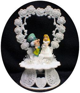 ALICE IN WONDERLAND Mad Hatter Wedding Cake Topper \