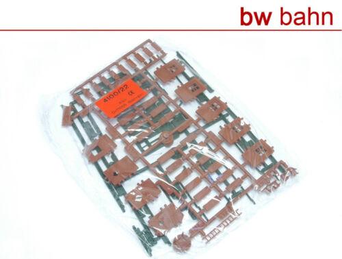 Kibri h0 kit 4100-22 edificios equipamiento puertas persianas canalones nuevo
