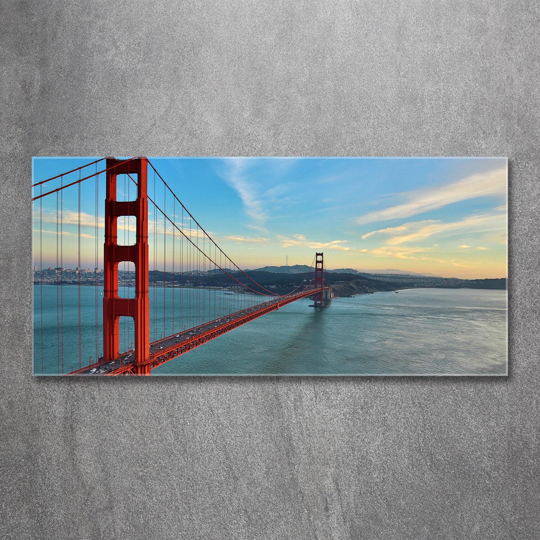 Glas-Bild Wandbilder Glas-Druck 120x60 Sehenswürdigkeiten San Francisco Brücke