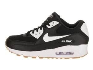 All Nero Bianco Nike Air Max 90 Leather Uomo scarpe da