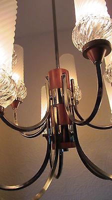 Symbol Der Marke Sputnik Decken Lampe Vintage Glas Chrom '60/ '70 J Dänemark Teakholz Kronleuchte