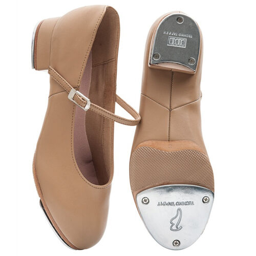 Bloch so370l tan Kelly split sole talon TAP Chaussures.