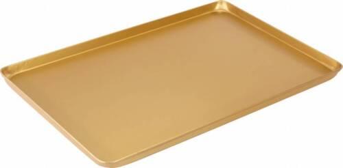 3x Thekenblech neu gold eloxiert 60x40x2cm Aluminum Ausstellblech Imbiss Pizza