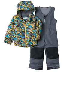 5d35e52adb608 Columbia Boys 2T 3T Exposed Ice Outgrown Camouflage Jacket Bib Snow ...