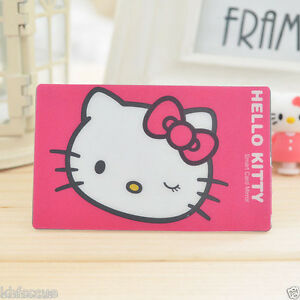 Hello-Kitty-Credit-Card-Size-Mirror-For-Make-Up-Pocket-Wallet-K471