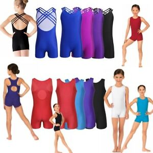 Girls Kids Ballet Gymnastics Leotard Dance Jumpsuit Unitard Dancewear Costume