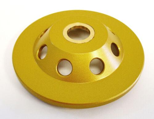 "4"" Quarter Round PCD Grinding Cup Wheel 6 Segments 7//8/""-5//8/"" Arbor"
