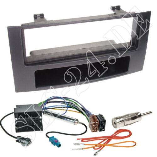 VW T5 Multivan 2-DIN Autoradio Radioblende+Fach ISO Radio Adapterkabel Einbauset