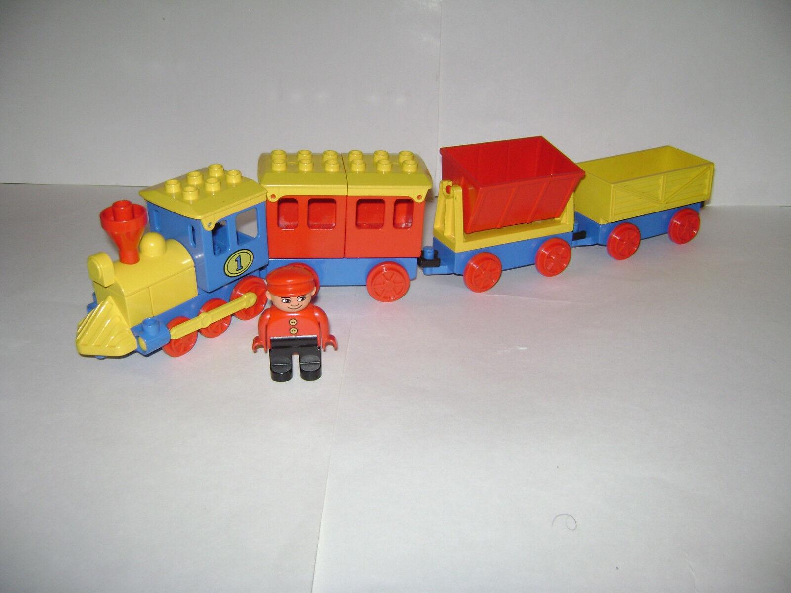 Lote de 4 De Colección Lote de conjunto de coches de Lego Duplo Tren pistas pueden utilizar con Thomas Muy Raro