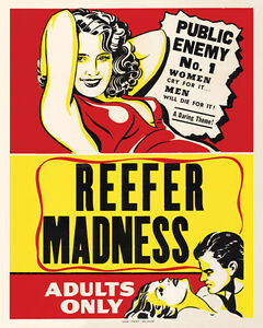 Image Is Loading Vintage POSTER Rare REEFER MADNESS Marijuana 1960 039