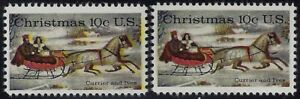 "1551 - 10c Beautiful Yellow Color Shift Error/EFO ""Currier and Ives"" Mint NH"