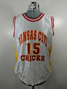 Kansas-City-Chicks-Number-15-Red-White-Yellow-Jersey-Sz-Large-L-C2