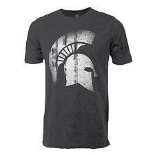 NCAA Michigan State Spartans Vintage Sheer Short Sleeve Tee Small Dark  (B-10)