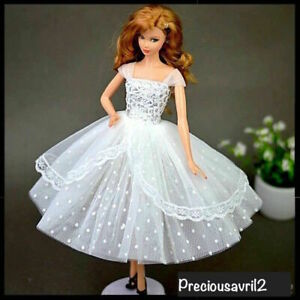 New-Barbie-doll-clothes-outfit-princess-wedding-gown-white-cocktail-dress