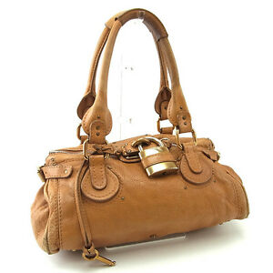 10e84160780 Image is loading Chloe-Shoulder-bag-Paddington-Brown-Gold-Woman-Authentic-