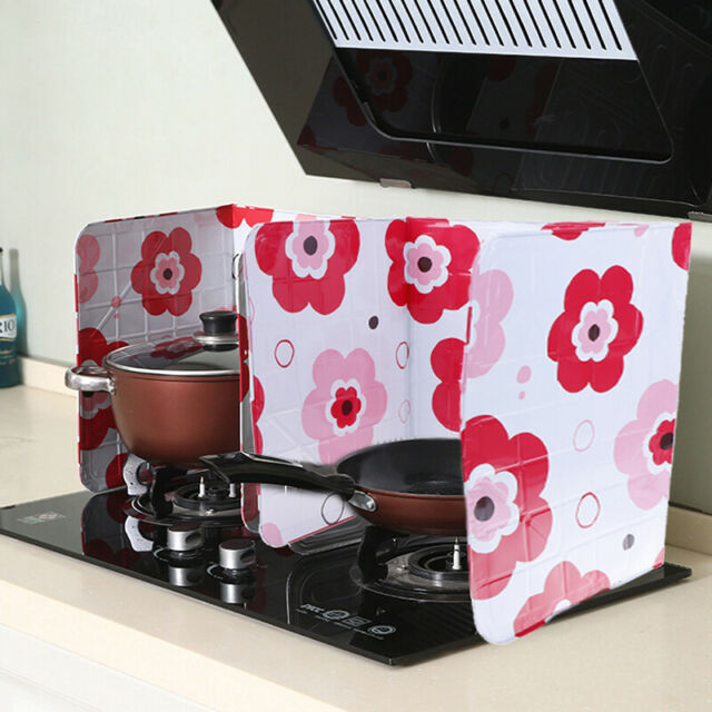 Aluminum Foil Kitchen Cooking Oil Splash Guard Gas Stove Burn Proof Board Newl