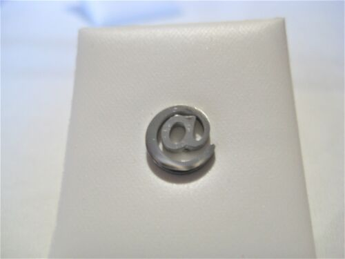 Stainless Steel Silver or Black AT sign @ symbol earring single mens//ladies