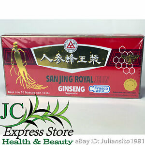 Sanjing Royal Jelly Ginseng 10 Frascos De 10 Ml Frasco Azul 7501060818343 Ebay