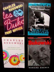 4 CHARLES BUKOWSKI BOOKS LOT Novel & Poetry & Short Stories & Biography