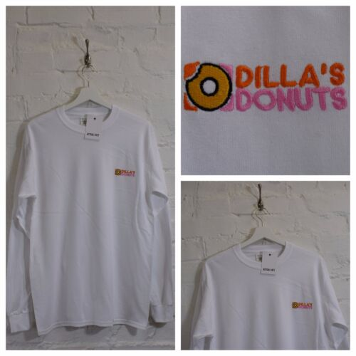 Actual Fact Dillas Donuts Hip Hop J Dilla White Long sleeve Tee T-shirt