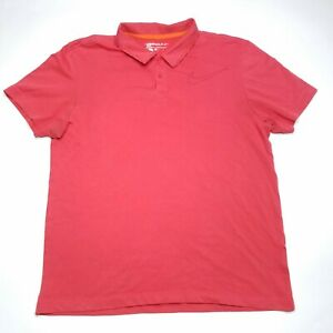 Nike-Golf-Dri-Fit-Coral-Short-Sleeve-Casual-Polo-Shirt-Mens-Size-Large-L-Used