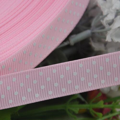 """5//8/"""" Upick Lots color grosgrain ribbon print dot appliques craft wedding"""