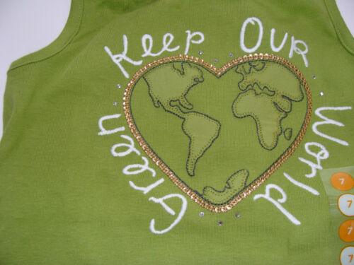 Gymboree BATIK SUMMER Elephant Girls 7 Green World Top Shirt Bike Shorts NEW
