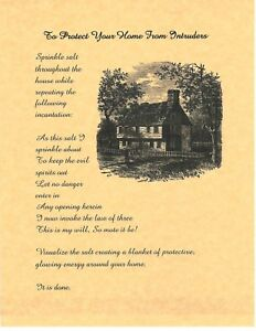 Book Of Shadows Spell Pages House Protection Spell Wicca