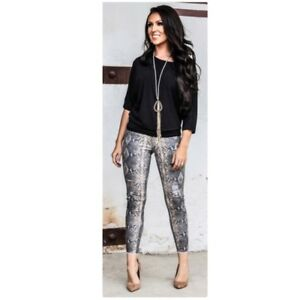 Nuovo Jeans serpente skinny con stampa r4qwrIR