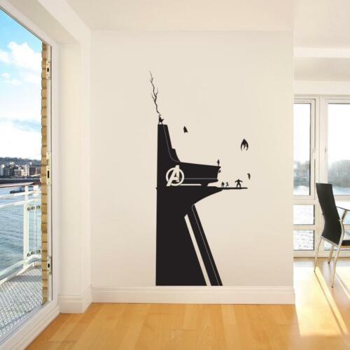 Avengers Tower WALL STICKER Decal Decor Children Kids Stencil Marvel ST399