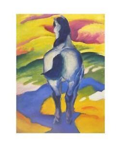 Franz Marc Blaues Pferd II Poster Kunstdruck Bild 58,5x48cm