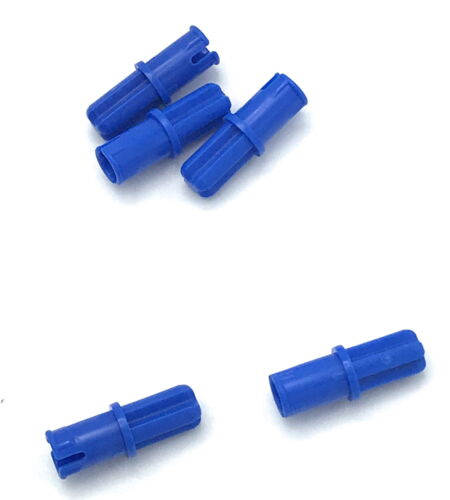 Lego Lot of 5 New Blue Technic Axle Pin with Friction Ridges Lengthwise Parts