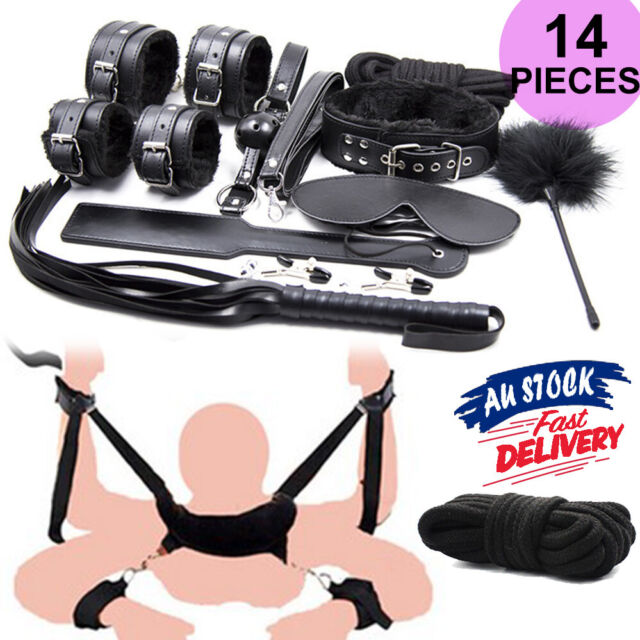 NEW Bondage BDSM Adult/Sex Toy Cuffs/Dom/Sub Fetish Kit/Pack Beginners/Starter