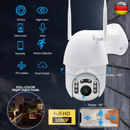 1080P HD IP Netzwerk Camera Überwachungskamera Außen Outdoor Funk Wlan Dome CCTV