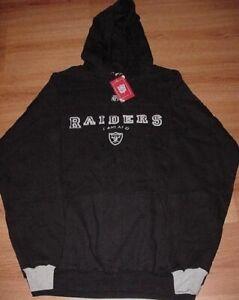 Oakland-Raiders-Hoodie-Large-Embroidered-Logos-Black-Hooded-Sweatshirt-NFL