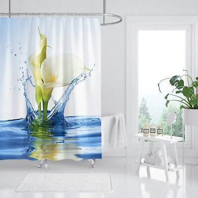 Smart 3d Wasser Lily 89 Duschvorhang Wasserdicht Faser Bad Daheim Windows Toilette De To Ensure Smooth Transmission Bath