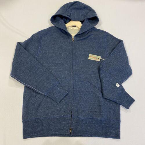 CHAMPION Hooded Sweatshirt Full Zip Navy Mens Size UK M *REF189