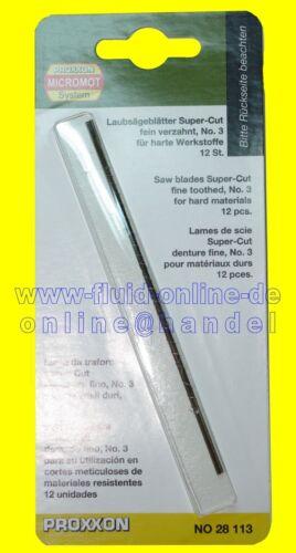 PROXXON 28113 Laubsägeblatt fein verzahnt 12 Blätter//Packung DSH DS460 DS230