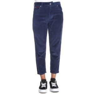 Tommy-Hilfiger-Jeans-Ankle-Corduroy-Pantalone-Uomo-DM0DM05042-002-Black-Iris