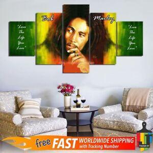 Bob Marley Quotes Wall Art Canvas 5 Piece Home Decor