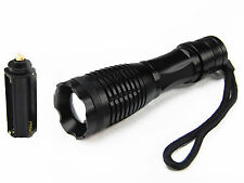 CREE XM-L T6 LED High Power 5 Mode Zoomable Zoom Flashlight 2200LM Torch