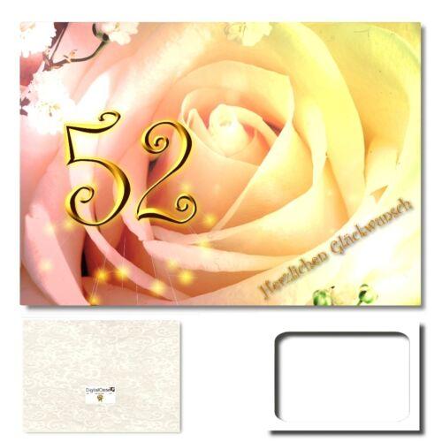 Geburtstag Grußkarte XXL Glückwunschkarte Geburtstagskarten #508 DigitalOase 52