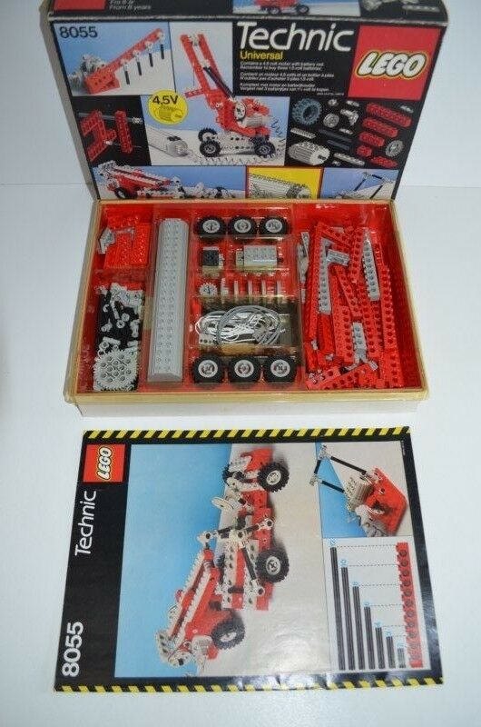 Lego Technic Universal Building Set with Motor 8055 Box & Plan MIB (01407)