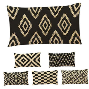 Am-KF-Rectangle-Geometric-Pattern-Pillow-Case-Throw-Cushion-Cover-Home-Bed-Dec